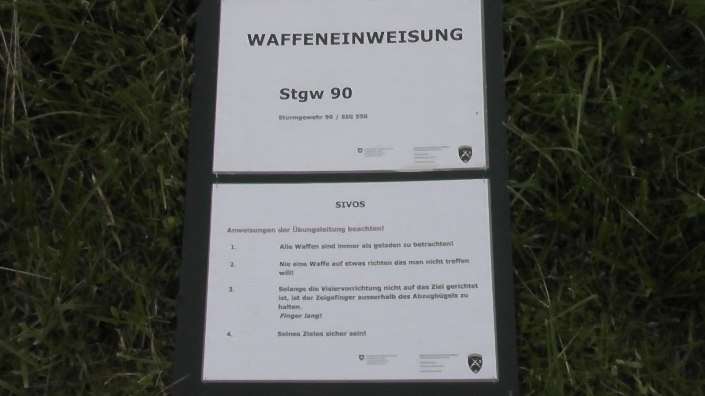 Sturmgewehr Stgw 90 Einweisung